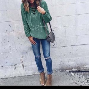 Soft Cozy Teal Fall Sweater